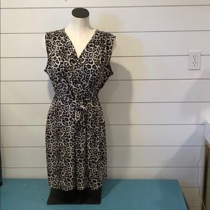 Apt 9 leopard print vneck wrap dress